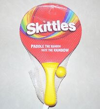 RARE NEW Skittles Paddle Ball Paddle The Rainbow Taste The Rainbow collectable