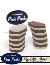 Pixie Packs Shape 1 Pre-cut Shoe Soles 6mm Brown