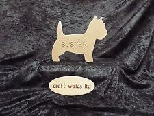 West Highland Terrier 18mm MDF Freestanding Personalised Westie Wooden Engraved