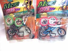 "BICYCLE TOY-ONE:BLUE-GREEN-MAROON DOLL HOUSE MINIATURE 1-12=4-3/4"" L=CAKE TOPPER"