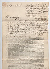 1838 New York Supreme Court document signed by John Keyes Paige - Essex County