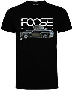 Official Foose Design 'Chips F100' T-Shirt - Pickup - Hot Rod - Musclecar - Ford