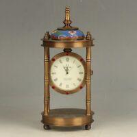 European Style Mechanical Clock Cloisonnee Horologe
