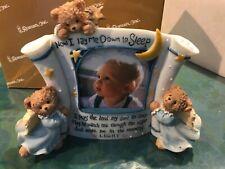 Prayer Bear Boy Photo Frame, Baby Gift by Roman #76048