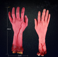Realistic Hands Terror Bloody Fake Body Parts Severed Arm Hand Halloween Prop