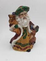 Santa Ceramic Tea Light Votive Candle Holder Christmas 7 in tall