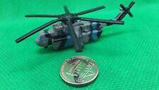 MILITARY MICRO MACHINES  SKY CRANE SKYCRANE CH54 CH-54  HELICOPTER BLUE BLACK