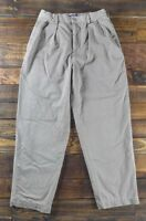 Vintage J. CREW Plaid Flannel Lined Casual Outdoor Beige Khaki Pants Size 30x30
