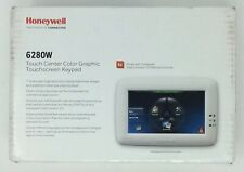 HONEYWELL SECURITY 6280W WHITE TOUCH CENTER COLOR  TOUCHSCREEN KEYPAD ALARM!