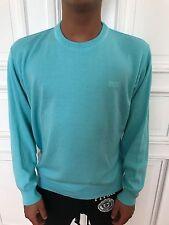 Hugo Boss Strick Pullover Sweatshirt Pulli Gr. XL eher L/M türkis 100% Baumwolle