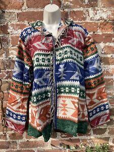 Cashmelon Cashmilon Button hoodie hippie/boho/festival size L