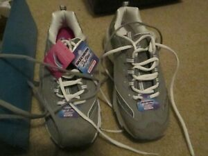 Skechers Memory foam gray and white Sneakers   New Size 10 M