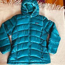PATAGONIA hi loft down sweater hoody jacket/Elwha blue/Girls XL(14)  NWT