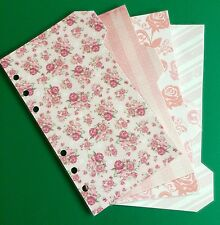 Filofax Personal Planner - Beautiful Pink Flower Dividers - Fully Laminated