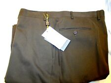 Canali Stretch Cotton Blend Cavalry Twill Dark Brown Pants NWT 42 unhemmed $345