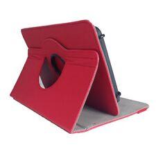 Bookcase Tablet Tasche für Archos 101 Platinum 3G 2017 Hülle Rot 10.1 Zoll 360