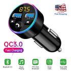 2-Ports USB Car Charger Wireless Bluetooth 5.0 FM Transmitter Audio Adapter MP3