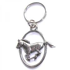 Silver Running Horse English Pewter Keyring Handmade In England Key Ring New