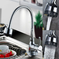 Chrome Kitchen Swivel Twist Mixer Tap Sink Basin Bathroom Faucet Spout Hot Cold
