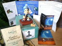 "JIMINY CRICKET WDCC DISNEY FIGURINE ""CRICKET'S THE NAME"",FROM PINOCCHIO,w/Extras"