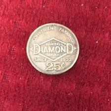 Parking Diamond Services Shopping Coin Medallion Token