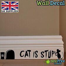 GATTO è stupido Mouse Mice FORO-Parete In Vinile Adesivo decalcomania Home Decor camera dei bambini