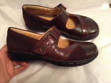 New CLARKS UK 4.5 ARTISAN UN SWAN UN-STRUCTURED LEATHER MARY JANES Brown 37.5