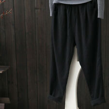 Womens Cotton Linen Loose Trousers Summer Casual Pants Pocket Holiday PLUS 6-24