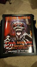 Iron Maiden A Real Dead One Rare Original Industry Promo Poster Framed!