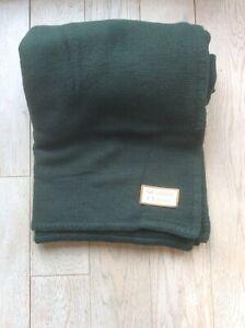 I.S. Studio 100% Cashmere Throw - Dark Green - Brand New