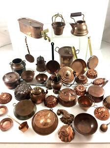 Konvolut altes Kupfer Geschirr Puppenküche / Setzkasten Dachbodenfund