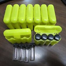 4 - 1 Dram Glass Vials With A Carrying Case Storage Case Yellow