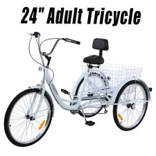 Ridgeyard 24'' 3 Wheel Adult Tricycle Bicycle Trike Cruise 7 Speed Low Step
