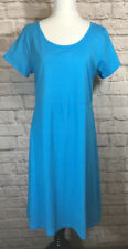 FRESH PRODUCE Solid Blue SADIE Cotton Dress Womens SZ SM  #7204