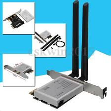 Half Mini PCI Express To PCI-e Adapter WiFi Bluetooth Card Converter ATX Antenna