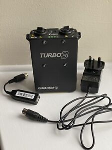 Quantum Turbo 3 Battery Pack With Charger USB Adapter and Cable