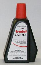 Red Self-inking Stamp Ink, 2 Oz Drip Spout Bottle, for Trodat Ideal Stamps