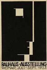 Bauhaus Ausstellung 1923 Weimer Art Exhibition Giclee Canvas Print 20x30