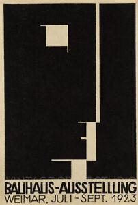 Bauhaus Ausstellung 1923 Weimer Art Exhibition Giclee Canvas Print 20x30