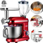 3in1 Food Stand Mixer Stainless Steel Bowl Meat Grinder Blender Juicer 6QT Speed photo