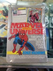 1991 Marvel Universe Series 2 II Factory Sealed Box, 36 packs