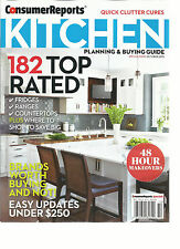 CONSUMER REPORTS. KITCHEN  PLANNING & BUYING GUIDE, OCTOBER, 2015 (182 TOP RATED