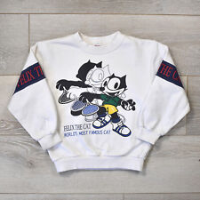 Vintage Felix The Cat Youth Sweatshirt - Boys Girls Kids Sweater White Cartoon