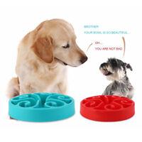 EG_ Pet Dog Cat Food Water Dish Slow Eating Anti Choking Feeding Bowl Feeder Rak