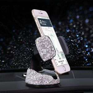 Cell Phone Car Holder Glitter Adjustable Rotatable Luxury Rhinestone Accessories