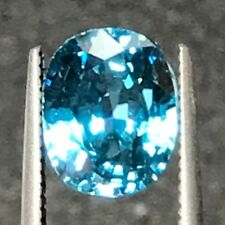 Natural 5.31 Carat Blue Zircon Cushion Genuine Loose Gemstone Gem