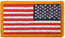 "US Flag Patch Military American US Flag Hook & Loop Patch 1-7/8"" x 3-1/4"""