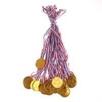 20X Enfants En Plastique Médaillé D'Or Médailles Sports Awards Jouets Décor FE