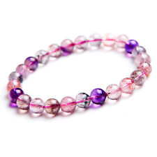 Natural Super Seven 7 Crystal Melody Stone Beads Bracelet 7mm AAA