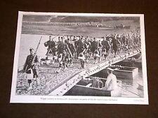 Guerra Europa 1914 Ferrovie distrutte ponti improvvisati Truppe Scozia Francia